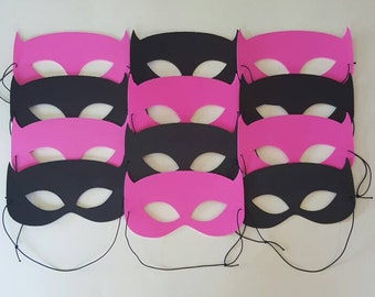 BATMAN MASKS - Batgirl Masks - 1.25 each for 10 or more Assembled Super Hero Masks -Use as Favor or Craft - Batman Party, Batgirl