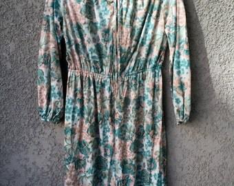 Teal floral Lady Mendel dress