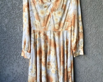 Light brown floral dress