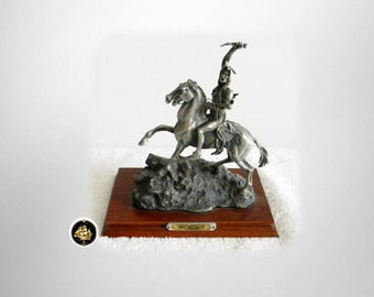 Chilmark fine pewter limited edition figurine of Frederic Remington American Indian - Triumph - 1989