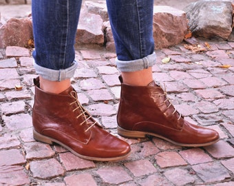 brogue ankle boots womens
