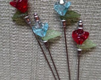 Martini Pick - Roses Red/Blue