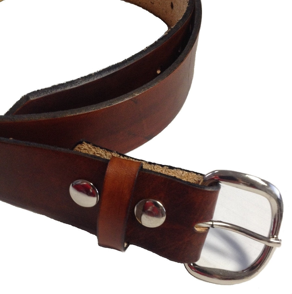 mens leather belt size 50 choose color black or brown 1