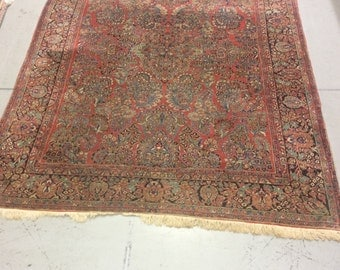1930's Persian Sarouk Rug 8 feet 10 inches by 11 feet 9 inches