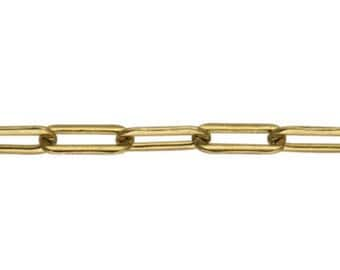 3.8 x 9.95mm Fancy Chain By the Foot - Gold Filled (GF) Item # 20348FY