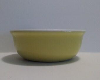 Hall China Yellow Bowl Custard Cup Condiment Reslish Dish