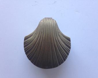 Sea Shell Small Brass Shell Trinket / Stash / Jewelry Box