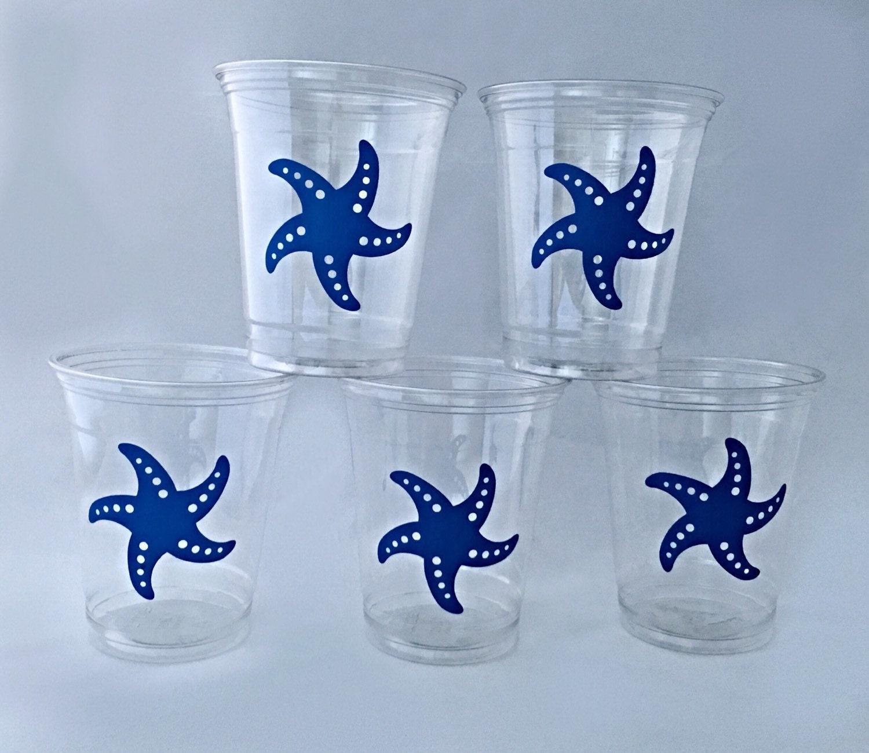 Starfish Party Cups Beach Wedding Nautical Wedding