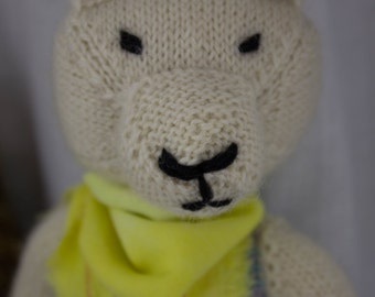 Arctic Hare Knit Wool Doll