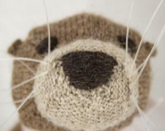 Sea Otter Knit Wool Doll