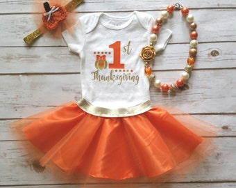 First Thanksgiving Outfit- Thanksgiving Outfit - Girls Thanksgiving Outfit - Baby Thanksgiving