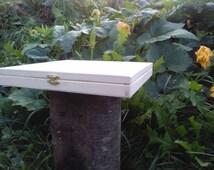 Big unfinished wood box for decupage. DIY Project.