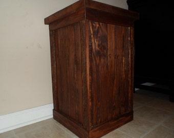 Oak Trash Can, Wood Trash Can, Recycling Bin, Trash Bin, Garbage Can, Wood Garbage Can, Wood Trash Bin, Rustic Home Decor