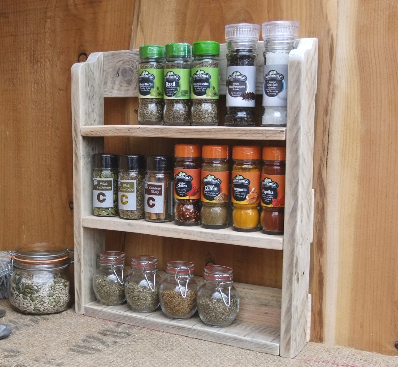 Rustic Spice Shelf / Kitchen Spice Rack / Herb Shelf / Kitchen