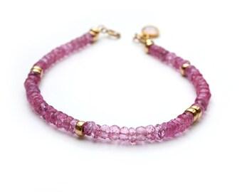 Pink Topaz Bracelet, Gemstone Bracelet, Gift For Her, Womens Jewelry, 14K gold filled, birthday gift, Gift For Wife, Gift For Sister