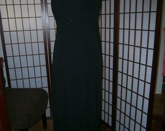 Women's Black V-Neck Gown