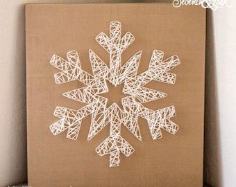 DIY Kit - Create your Own Snowflake String Art - Do It Yourself - Snowflake String Art - String Art - Holiday Decor - Winter - Christmas