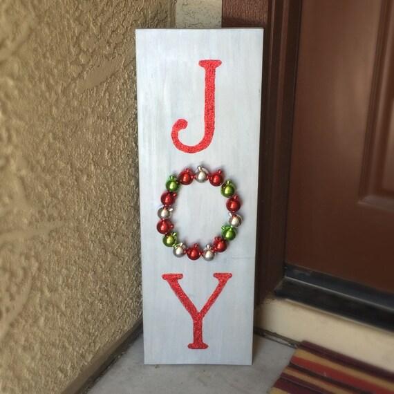 Joy Wooden Christmas Sign Christmas Decor Front Door