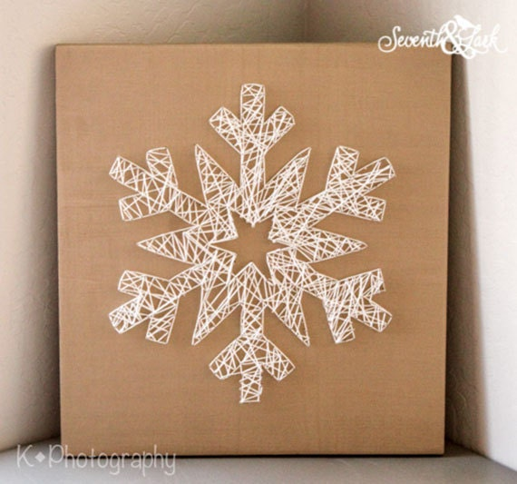Diy kit create your own snowflake string art do it like this item solutioingenieria Image collections