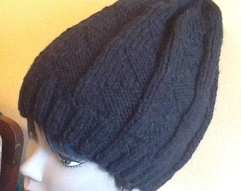 Black large hat