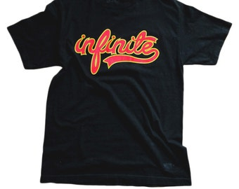Infinite Black Tshirt 100% Cotton Crew neck Tee Size MEDIUM