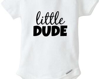 Little Dude Baby Boy Bodysuit