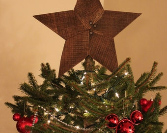 christmas tree star topper rustic reclaimed wood star wooden star star wall art - Christmas Tree Star