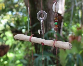 life is a journey drift wood wind chime, gypsy art