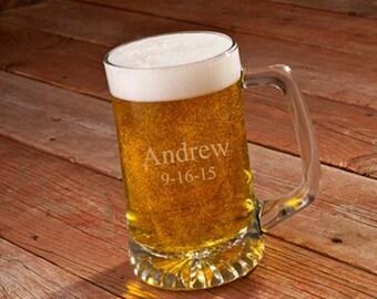 Personalized 25 oz. Beer Glass - Sports Mug