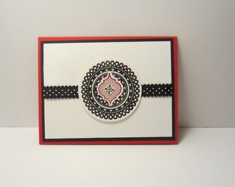 Black and Red Blank Card