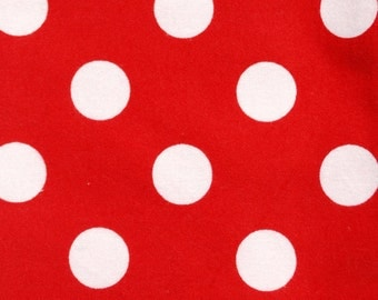 Red Polka Dot Flannel Baby Blanket