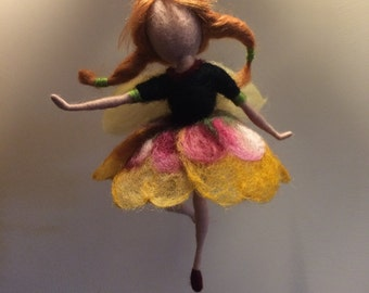 """Needle felted fairy, Waldorf inspired, Flower Fairy """"Pansy"""", Elf, Home decor, children room, Gift,  Art doll, Doll miniature"""