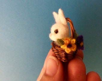 Tiny needle felted rabbit