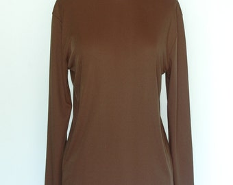 Vintage Brown Mod Mock Turtleneck