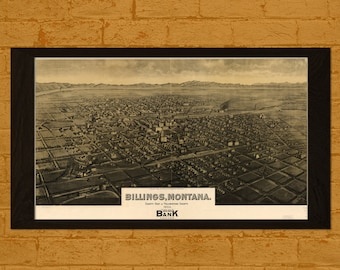 Get 1 Free Print *_* Old Billings Map 1904 - Ancient Map Billings Wall Art Antique Map Poster Home Decor Old Map Prints Montan Map