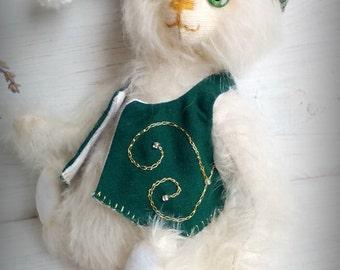 Big sale! Artist Teddy Bear Dandelion 6.3inches (16cm) Toy Stuffed bear OOAK bear Gift Handmade toy Little bear