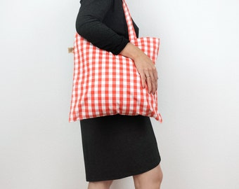 Hipster Tote Bag / in 2 colors: Red and Blue