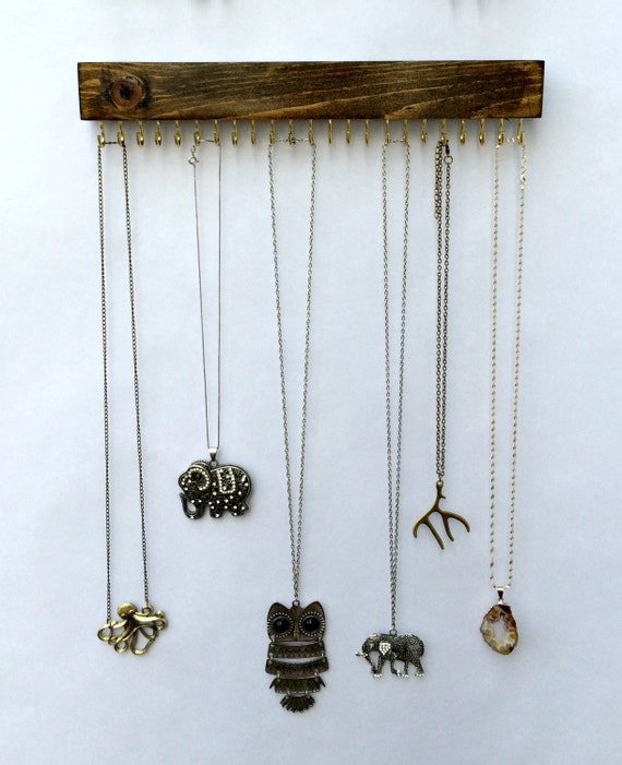 wall mount jewelry organizer necklace holder