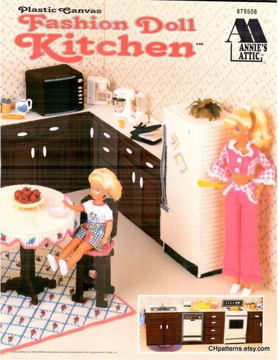 11 Designs Kitchen Plastic Canvas Fashion Doll House