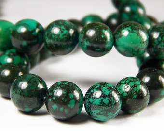 15-1/2 Inch Strand - 10mm Green Turquoise Beads - Howlite Beads - Synthetic Turquoise - Gemstone Beads - Jewelry Supplies