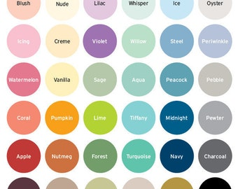 Handy Dandy Color Chart, by DesignAndDandyCo • DO NOT PURCHASE • For reference only