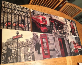 London and Paris Photographs on Wood Blocks