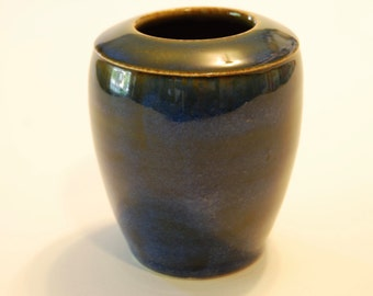 Handmade blue vase