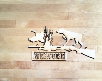 bird hunting scene cut out| Hunting scene laser cut out