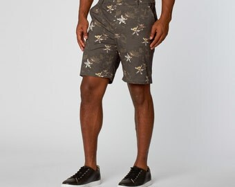 Grey Graphic Shorts for Men