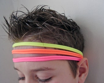 Nylon Elastic Headband, Toddler Headband, 3 Set Headband, Boys Headband, Stretchy Headband, Skinny Headband, Mans Headband, Nylon Rubbers