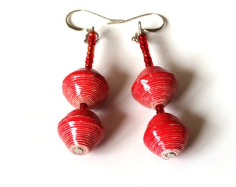 Beautiful Earring, Dangle Earrings, Drop Earrings, Red Earring's, Gift Earring, Palette Earrings, Boho Earrings, Girlfriend Gift