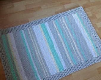 Pastel Cotton cord rug ( handmade)