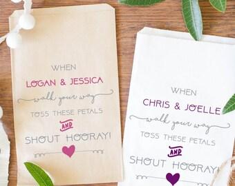 Custom Petal Toss Wedding Bags, Custom Favor Bags, Wedding Petal Toss Bags-BWE-52