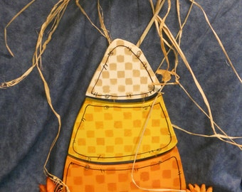 Halloween Fall Candy Corn Door or Wall Hanging